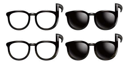 elementos de protección personal: Gafas de sol de la corchea