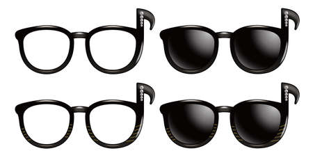 Sunglasses of the eighth note photo