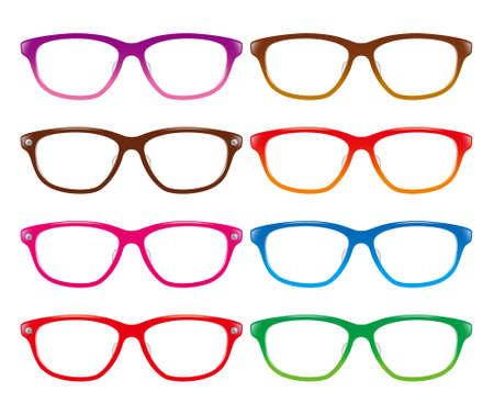 purple glasses: Glasses Stock Photo