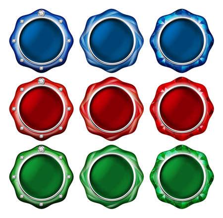 Jewelry Buttons Banco de Imagens - 31042988