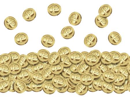 Coins of gold,Illustrations successive illustration