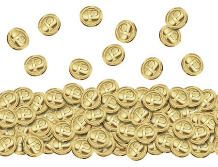 innumerable: Coins of gold,Illustrations successive Stock Photo