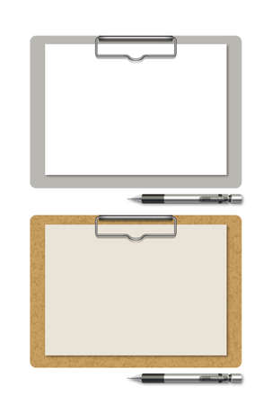 Clipboard and Mechanical pencil Banco de Imagens - 31400019