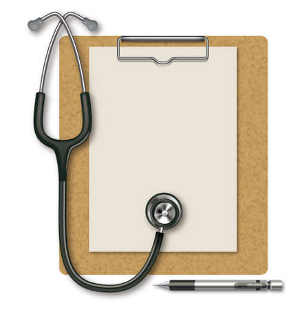 Stethoscope and Clipboard,cork photo