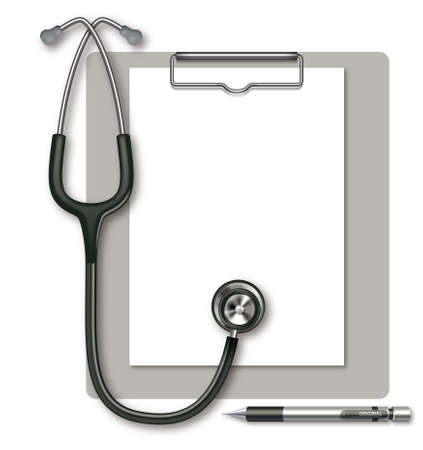 Stethoscope and Clipboard