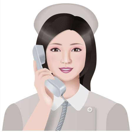 Nurse,telephone photo