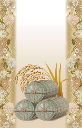 Straw rice bag,images.