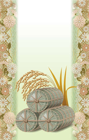 Straw rice bag,background images.