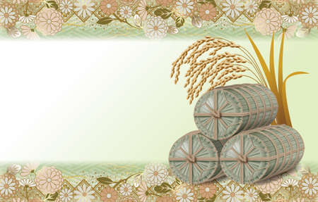 clippings: Straw rice bag,background images.