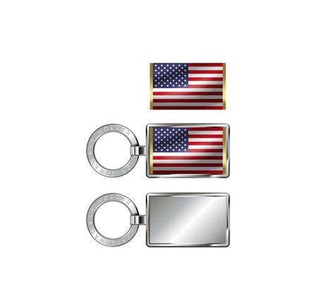 キーホルダー、キーホルダーの国旗のイラストを置くために使用されます。