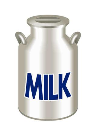 Les bidons de lait, boîtes de l'or blanc Banque d'images - 31533302