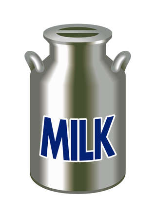 milk cans: Milk cans,Cans of stainless Stock Photo