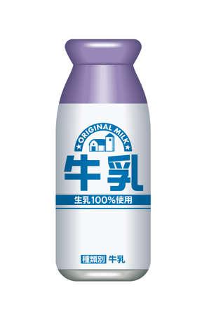 Milk bottle, Japanese style 免版税图像 - 31533338
