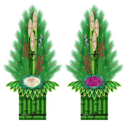 kadomatsu: New Years pine decoration,Japanese-style