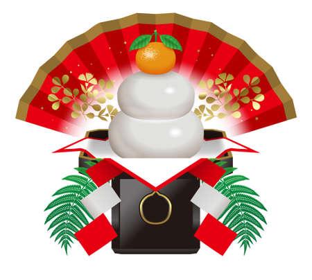 Kagami mochi,round rice cakes,Japanese New Year. photo