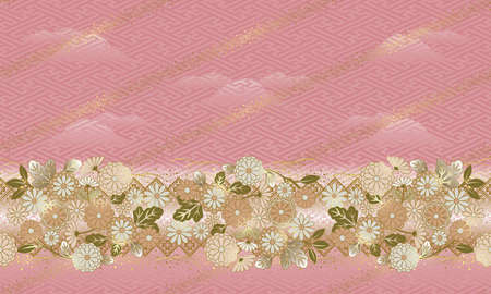 日本スタイルの花のパターンは、パターンを接続することができます。