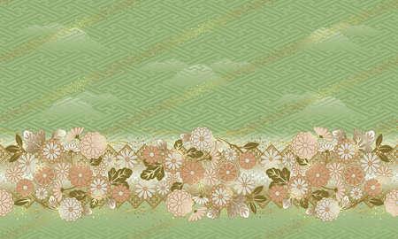 和風の花のパターンは、パターンを接続することができます。
