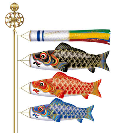 Carp streamers,Japanese Childrens Day, May 5. photo