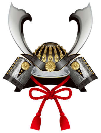 Samurai Helmet,Kabuto,Japanese Childrens Day. Stock fotó - 31576543
