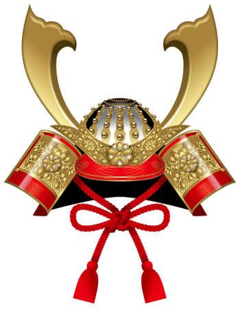 사무라이 헬멧, 투구, 일본어 어린이 날.