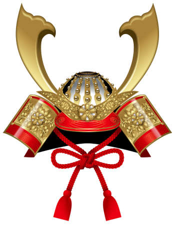 Samurai Helm, Kabuto, Japans Childrens Day. Stockfoto