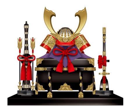 Samurai Armor voor de Sons, Japanse Childrens Day.