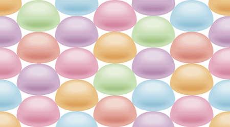 jellybean: Wallpaper of marshmallow, Endless pattern. Stock Photo