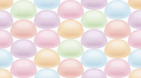 Wallpaper of marshmallow, Endless pattern. Stock Photo