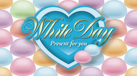 white backing: White day,Habit of East Asia. Stock Photo