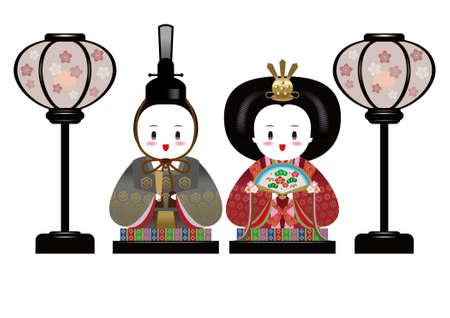 Japanese Dolls Festival, March 3. 免版税图像