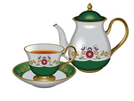 oolong: Teacup and teapot