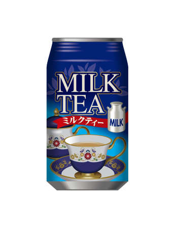 Can of milk tea.