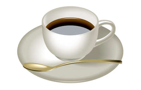Spoon and coffee cup
