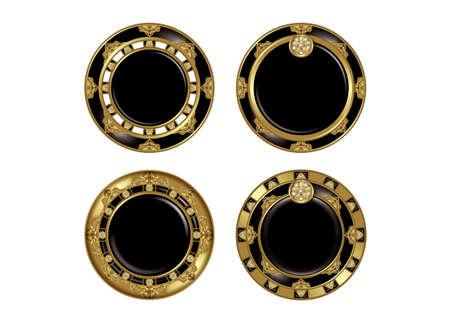 アジアン スタイルのボタン。 写真素材