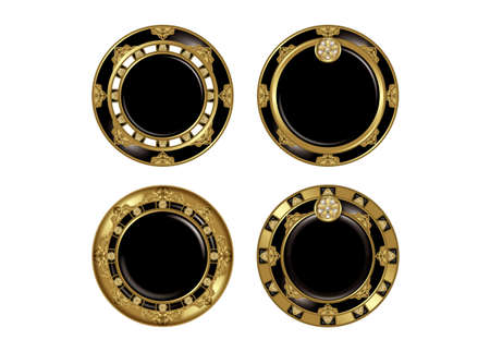 japanese background: Asian-style buttons.