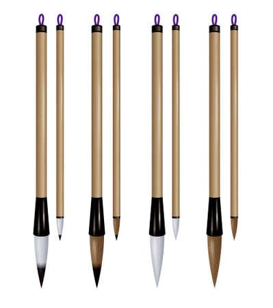 Asian writing brushes. 免版税图像 - 37163316