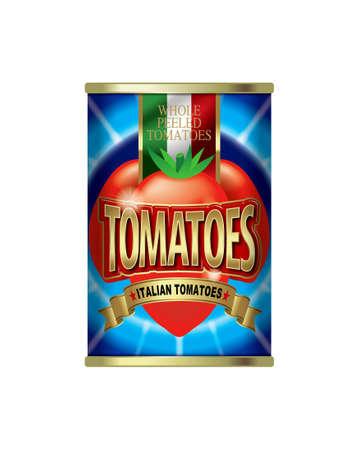 Whole peeled tomatoes. photo