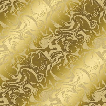 대리석 패턴의 배경입니다. 골드 컬러. 원활한 패턴입니다.