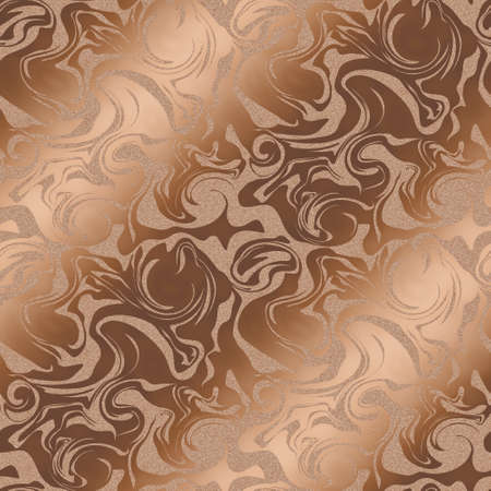 brownness: The background of the marble pattern.  Bronz color. Seamless pattern. Stock Photo