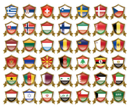 made in greece stamp: Illustration of the national flag. Badge collection. Stock Photo