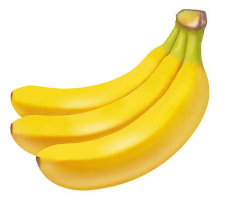 clippings: Illustration of banana. White background.