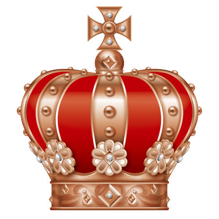 Illustration of the crown. Bronze.