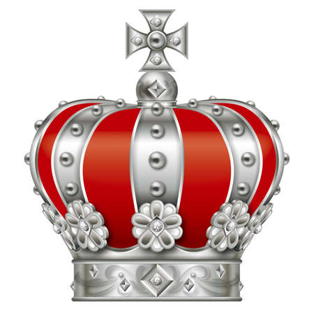 Illustration of the crown. Silver.