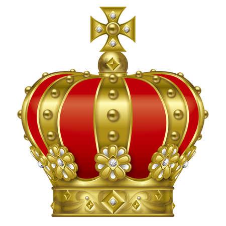 王冠のイラスト。ゴールド。 写真素材