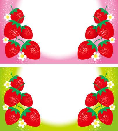 Illustration of strawberry. Background.