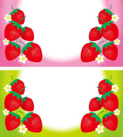 Illustration of strawberry. Background.