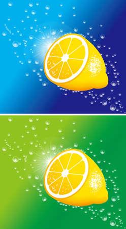 Illustratie van citroen. Vector.