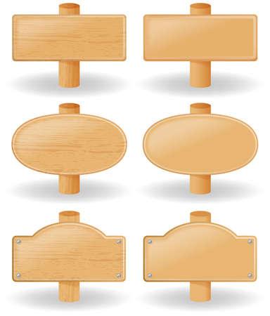 Houten bord illustratie.