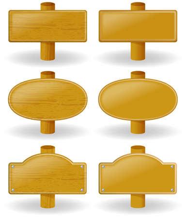 Wooden sign Illustration.