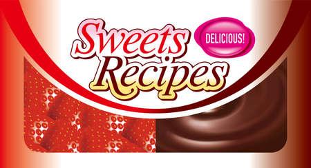 Illustratie van de snoeprecepten ... Het is een uithangbord voor het maken van snoepjes voor gebruik op de website.